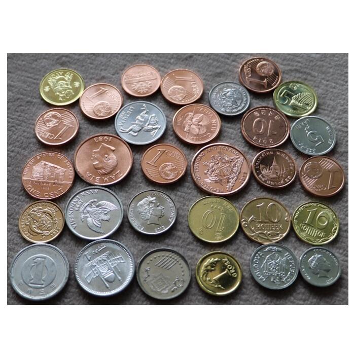 Оригинальный набор коллекционных монет 20, Размер 15-25 мм, Коллекционная монета из Азии, Африки, Америки и Европы, не содержит монеты иностранн...