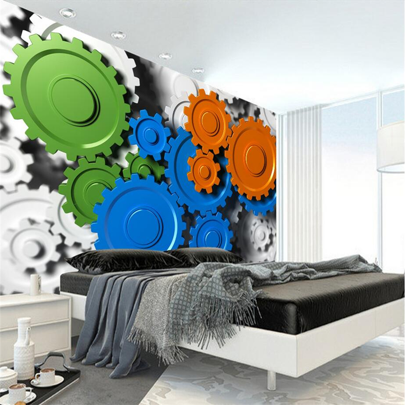 Custom Printing 3d Photos Creative Machine Gears Wallpaper 3d Relevo Environment Friendly TV Background Wall Mural Wallpaper  free shipping hepburn classic black and white photos wallpaper old photos tv background wall mural wallpaper