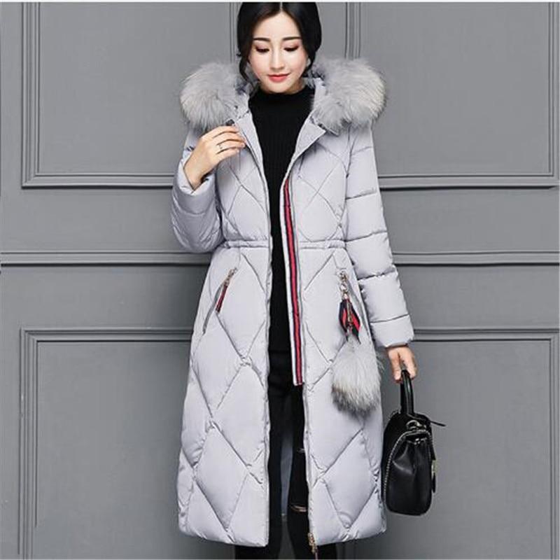 Fourrure Vêtements Canard Duvet D'hiver Col 4 Femelle 2018 Taille Mince Chaud Épaississement 5 Plus 1 2 Nouveau Parkas Long 3 Veste 6 De Femmes La xfwY6Iq7Y