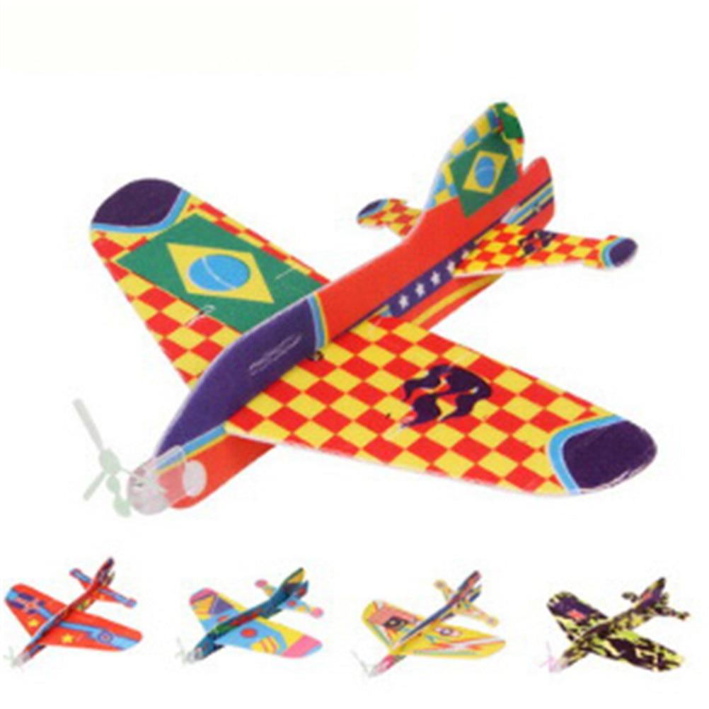2017 12pcs Diy Hand Throw Flying Glider Planes Foam: 1pcs DIY Hand Throw Flying Glider Planes Foam Airplane