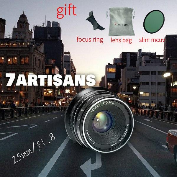 7 artisans 25mm F1.8 Premier Objectif à micro-unique Série pour sony E Montage Micro 4/3 ou fidji-XF montage ou canon M-montage micro-Caméras