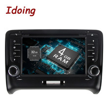 Idoing 2 Rádio Do Carro um Din GPS Android9.0 4G RAM 8 32G ROM Core Para Audi TT Duplo Din car DVD Player Multimedia WiFi 3G TV Fast Boot(China)