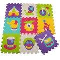 9 pçs/set puzzle esteiras de espuma EVA tapetes de jogo do bebê brinquedos educacionais do bebê mat esteira do enigma criança circo toy jigsaw para crianças Grátis grátis