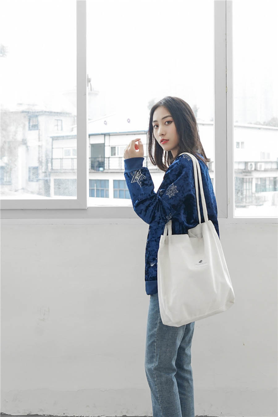Mara's Dream High Capacity Women Corduroy Tote Ladies Casual Solid Color Shoulder Bag Foldable Reusable Women Shopping Beach Bag 6