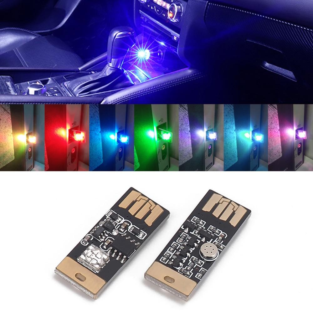 Mini USB LED Car Auto Interior Light Neon Atmosphere Ambient Lamps US