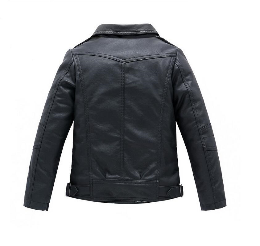 Baby Boys Leather Jacket Kids Girls and Coats Spring Kids Leather - Children's Clothing - Photo 5
