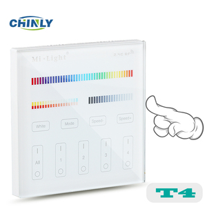 Milight T4 4-Zone RGB+CCT Wall Hanging LED Touch Switch Panel Remote Controller for Mi light RGB+CCT controller
