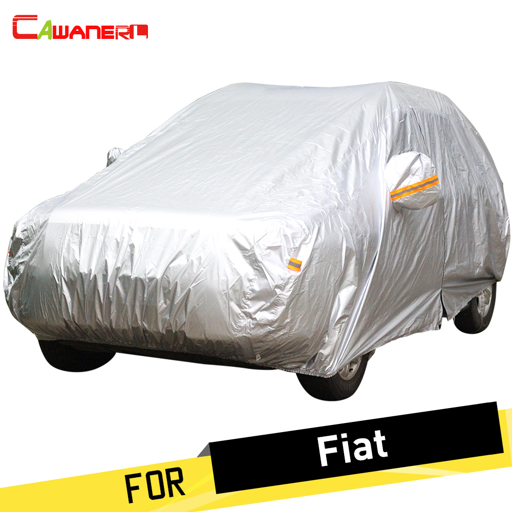 Cawanerl Car Cover Rain Sun Snow Resistant Dust Proof Anti UV Cover For Fiat Perla Palio Weekend Siena 500 500C Albea Idea Qubo-in Car Covers from Automobiles & Motorcycles    1