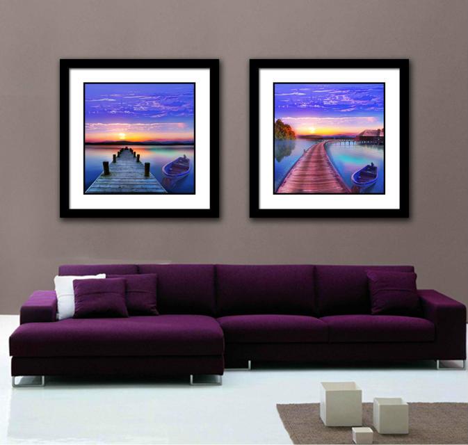 Modern Nice Seascape HD Spray Painting For Bedroom Decor
