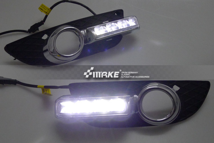 Free shipping with dimmer function and yellow turn signals LED DRL daytime running font b light