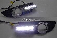 Envío libre con función de atenuación y amarillo señales de giro LED DRL luz corriente diurna para MITSUBISHI Lancer EX 2010 ~ 12