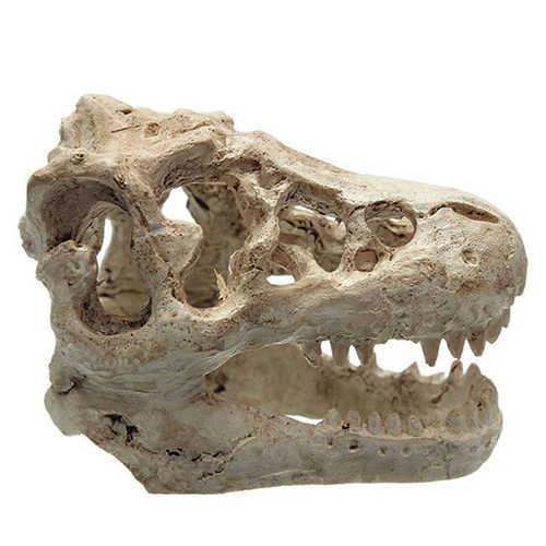 HENGHOME Figurines Miniatures Home Decor DIY Decorative Crocodile Skull Resin Decor for Aquarium Terrarium Fish Tank Ornament
