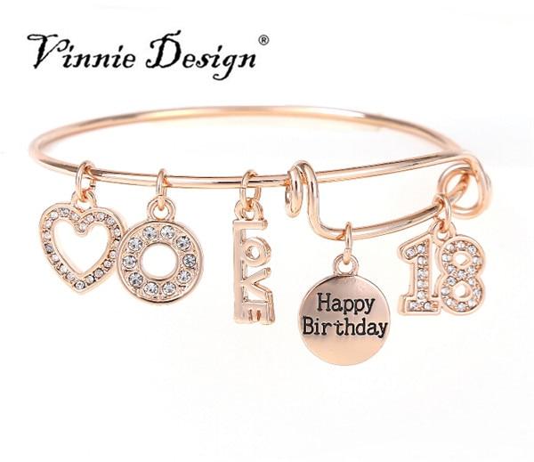 Vinnie Design 2018 Fashion Wire Bangles Bracelets For Girls ...