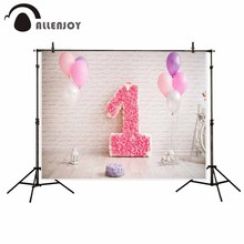 Allenjoy backgrounds for photo studio Girls warm and lovely balloon 1 year old backdrop newborn original design fantasy props