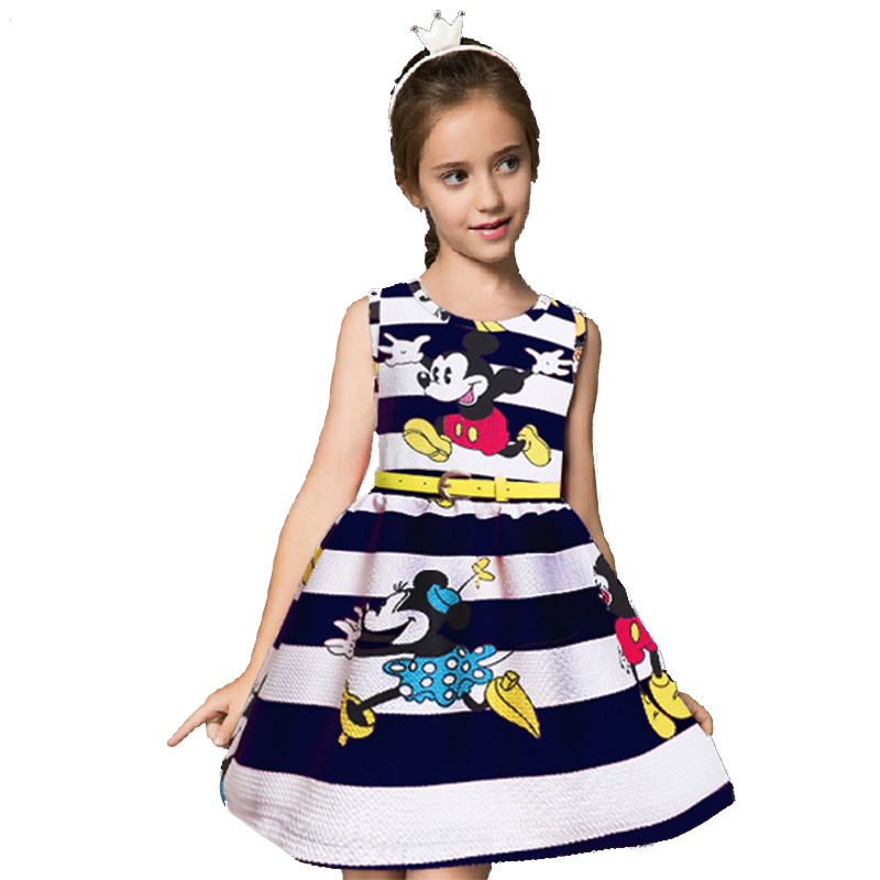Kids Dresses Girl Party Dress Fashion Minnie Summer Baby Girls Clothes Children Vetement Robe Fille Costume Vestido Infantil aile rabbit fashion girl dress set girls summer dresses 2017 brand kids coat dress princess costume vestido infantil children