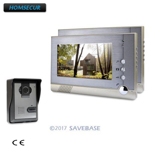 HOMSECUR 7inch Video Door Entry Security Intercom with Outdoor Monitoring for House/ Flat