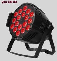LED DJ Par 6IN1 RGBWA UV 18X18 W LED Par Latas Latas de Grado Impermeable IP20 Aluminio Negro vivienda 90 V-240 V