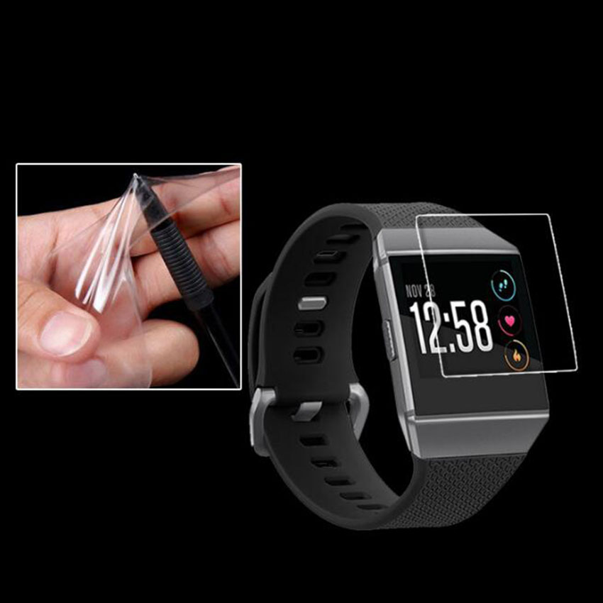 2PCS For Fitbit Ionic Screen Protector Toughened Glass Film Cover Clear LCD Shield Toughened Not Tempered Glass