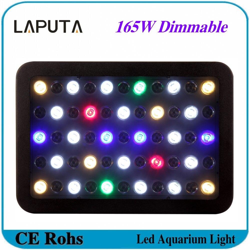 Fish aquarium lighting systems - 1pcs 165w Dimmable Led Aquarium Light Fish Tank System For Warehouse Quarim Tank Ac85 265v