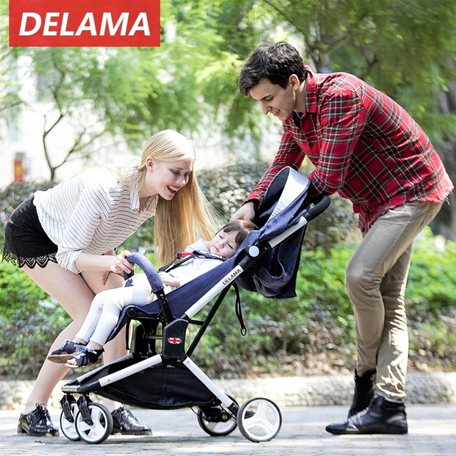 Baby Strollers Luxury High Landscape Baby Carriages Lightweight Folding Pram For Newborns Only 5kg Free Shipping