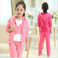 Hot sale fashion Girls clothes suit Spring and Fall Teenage Girls' Clothing Set shirt & coat  & Pants 3 pcs Outfits