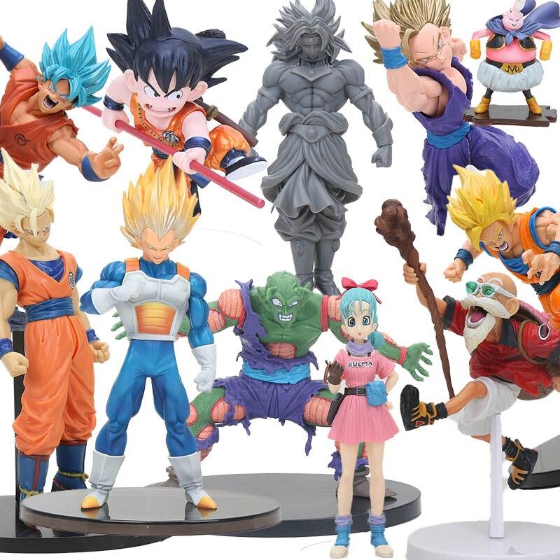 Dragon Ball Z Figures Super Saiyan Son Gohan Hercule Mark PVC Action Figure SCulture Big Budokai 7 Dragonball model toys figurine