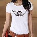 Рок-Музыка Aerosmith Логотип Лето Белый Тонкий Стиль Графический Печати футболка Женщины Футболка Swag Одежда Ти Топ Подарок Студент тройники