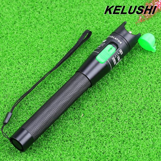 KELUSHI Metal Fibra Óptica Cable Tester Fuente de Luz Roja 20 mw Fibra Óptica Localizador visual de Fallos 20 km con 2.5mm Connecotor
