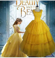 cosplay costume Beauty And the Beast Princess Belle Adult Fairytale Long Gown Costume PLUS SIZE 5xl