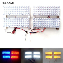 лучшая цена 2X48 LED  96LED Car Strobe Light Kit LED Car Flash Strobe Light Car Truck Emergency Flashing Strobe Light
