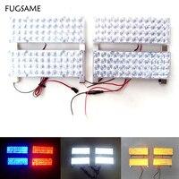 FUGSAME 4X48 LED 192LED Car Strobe Light Kit LED Car Flash Strobe Light Car Truck Emergency Flashing Strobe Light