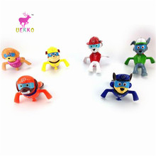 UEKKO 6pcs/set diving Swimming Canine Patrol Dog Toy Puppy Patrulla Canina Action Figure Model Funko Pop Collection Kid Toy Gift