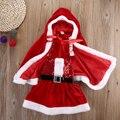 toddler children clothes  Baby Romper Boy Girl Xmas Set Dress Kid Santa Claus Costume Children Christmas Suit Cloak Coat Outwear