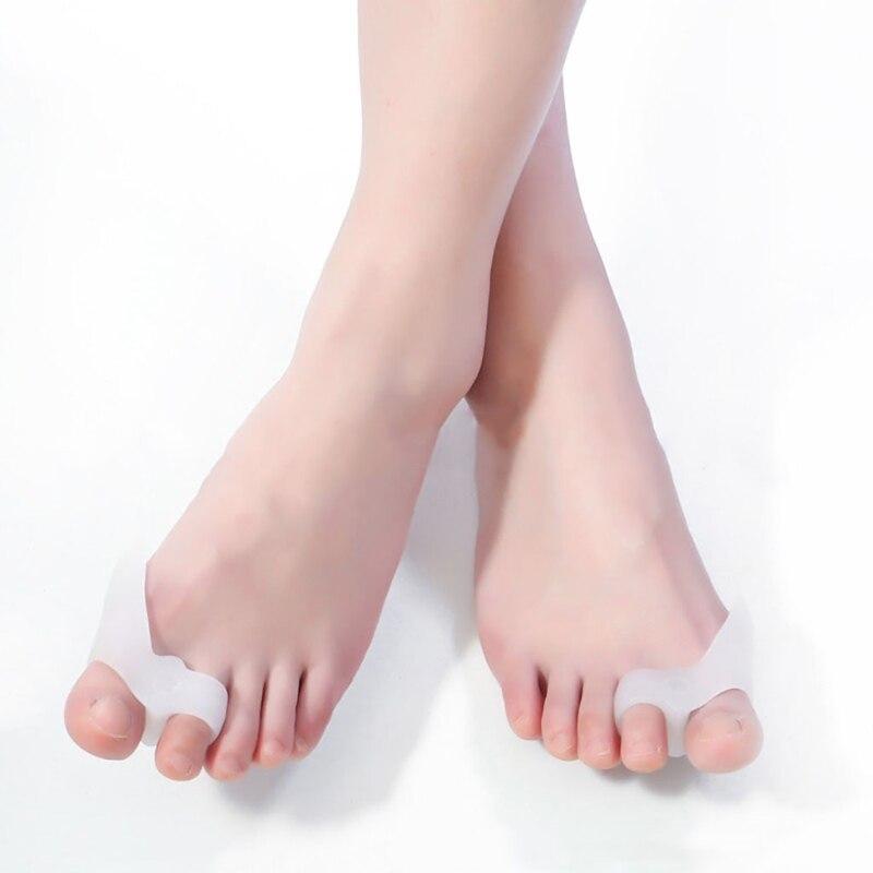 1Pair Silicone Toe Separator Genuine Hallux Valgus Bicyclic Bone Thumb Orthotics Orthopedic Correct Foot Big Finger Pedicure