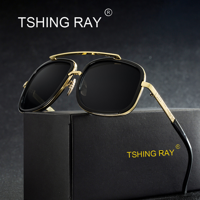 91a7ce1c7d TSHING RAY Fashion Square Flat Top Sunglasses Men Women Famous Luxury Brand  Designer Superstar Sun Glasses For Male Female Point