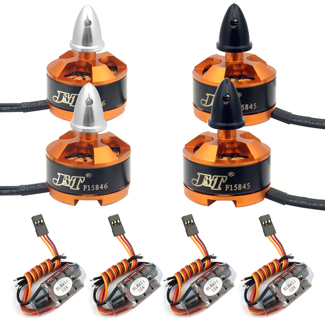 FPV Racing Drone Motor ESC Combo BLHeli 12A ESC 1806 2400KV Motor for Airplanes Helicopters RC Racer 4x 2300kv rs2205 racing edition motor 4x lhi lite 20a blheli s speed controller bb1 2 4s brushless esc for fpv racer