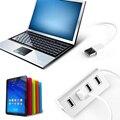 Алюминиевый СИД USB 2.0 Hub 4 Порта Splitter Адаптер С Кабелем для Ноутбука Macbook