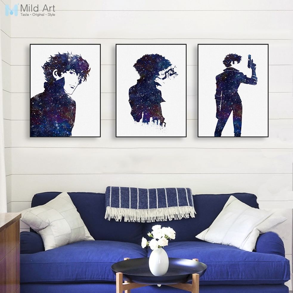 Modern Watercolor Minimalist Canvas A4 Art Print Poster Japanese ...