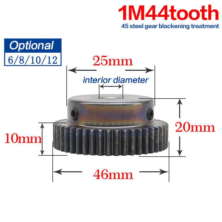1M44T/48 طن 44/48 الأسنان تتحمل القطر الداخلي 6 ملليمتر 8 ملليمتر 10 ملليمتر 12 ملليمتر 15 ملليمتر النحاس خطوة حفز والعتاد CNC مخرطة بالقطع أجزاء