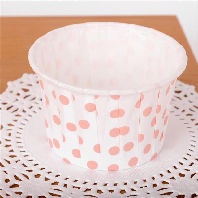 Decorative Dots Pattern Paper Cupcakes