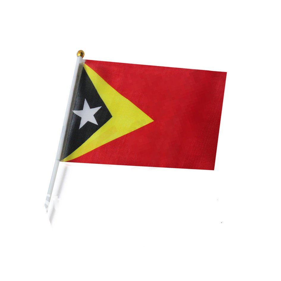 US $29 39 |Asian polyester flags East Timor Malaysia Maldives Oman Pakistan  Hongkong flags 14*21 cm with plastic poles hand shaking-in Flags, Banners