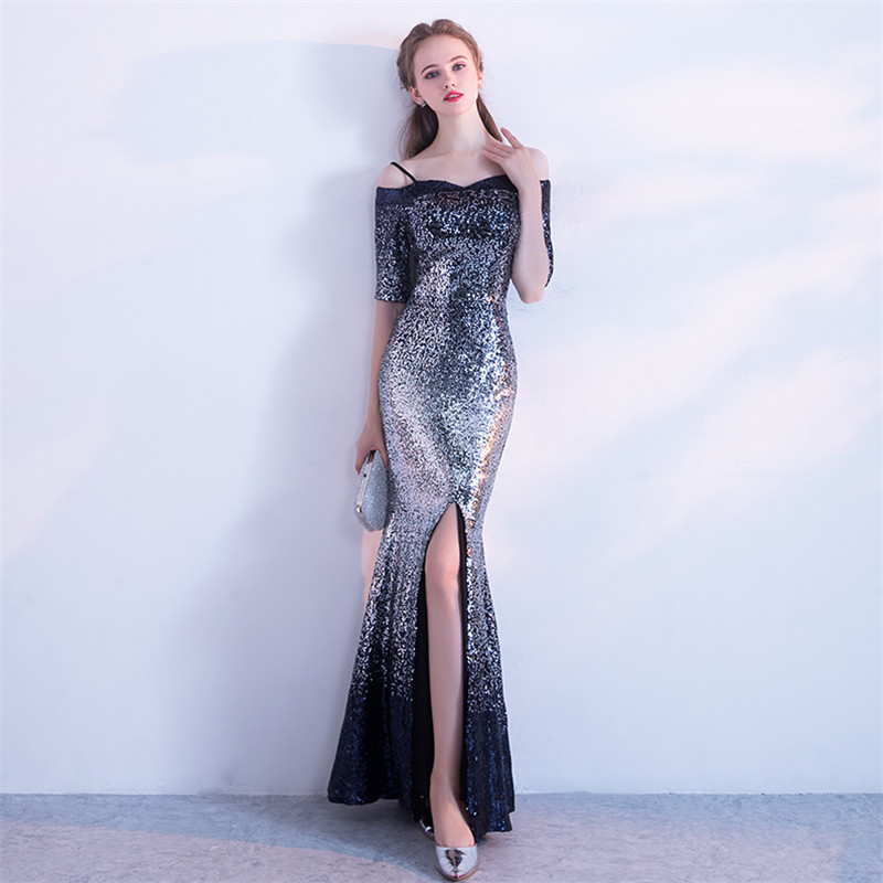 5ab56e56bb12 Robe De Soiree Long Mermaid Evening Dress 2019 Sexy Backless Wedding ...