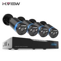 H ver 16CH Sistema de Vigilancia 4 1080 P cámara de seguridad al aire libre 16CH CCTV DVR Kit de videovigilancia iPhone Android Vista Remota