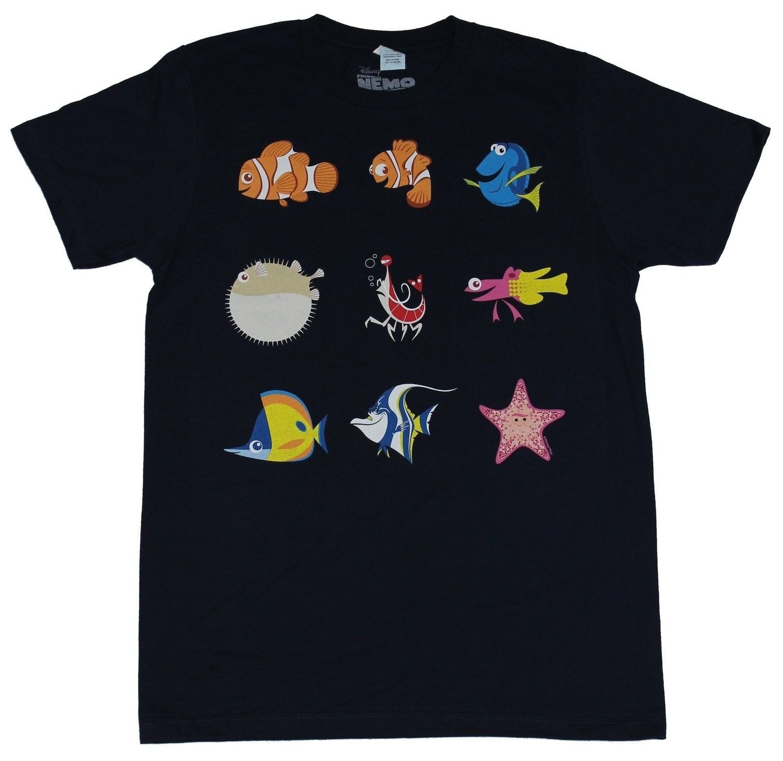 Finding Nemo Dory Mens T Shirt 9 Characters Line Up From Movies