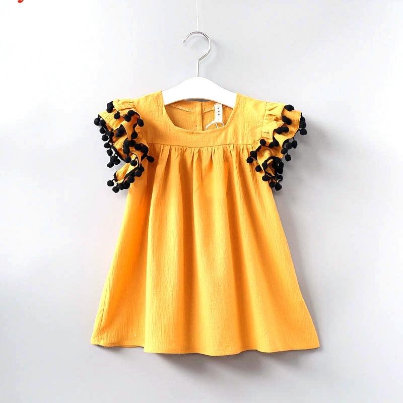 Babyinstar Girls Summer Dress Fashion Ruffle Sleeve Dresses Cotton Kids Clothes 2018 Summer Dresses of Toddle Girls цена 2017