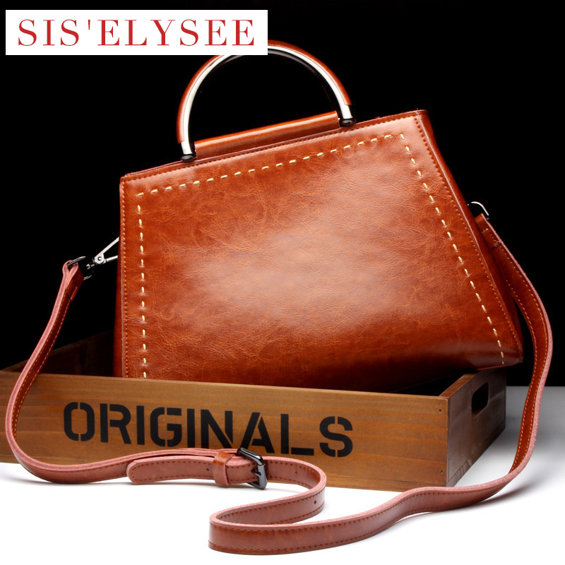 ФОТО New Fashion Cow Leather Famous Designer Purses And Handbags 2016 Solid Small Tote Bag Women Handbags High Quality Shoulder Bags