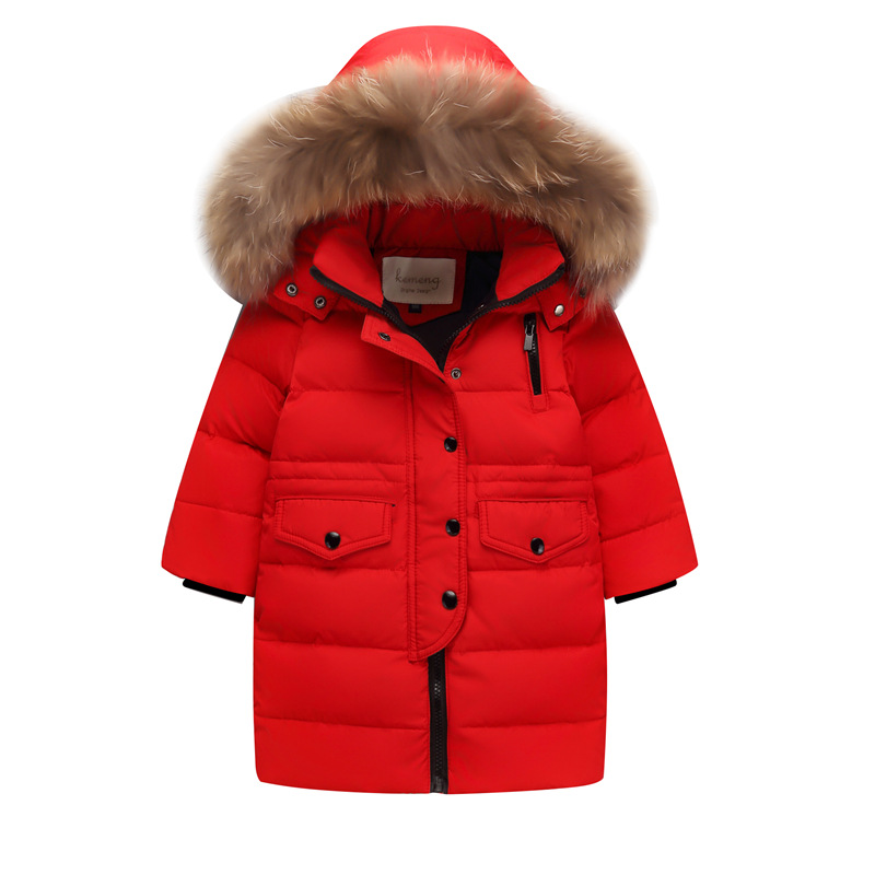 New Year Costume White Duck Down Jacket Little Girl 8 Jacket 9 Winter Wear 10 Children Thick 12 Girls Winter 13 Down Jacket Boy стоимость