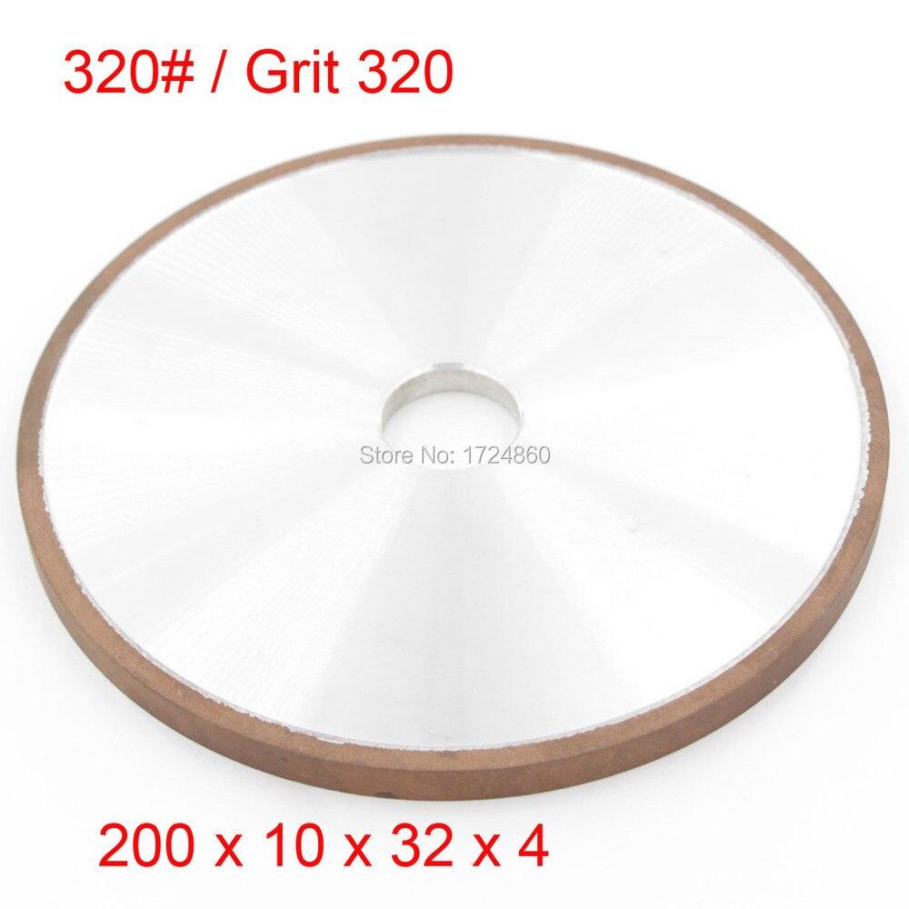 ФОТО 320# Diamond Coated Resin Plain Wheel Abrasive Grinding Wheels Disc China 200mm x 32mm Tools