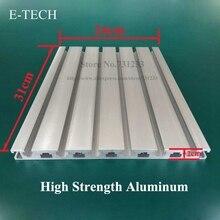 Промышленный алюминиевый профиль для гравировального станка с ЧПУ, центр направляющей, Рабочий стол 20 мм толщиной, высокая прочность 310*240 мм
