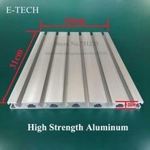 купить CNC Engraving Machine Hanging Board Aluminum Working Table Plate 60mm Thick High Strength Aluminum Profile 310*240 mm по цене 1952.88 рублей